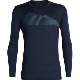 Icebreaker Tech Lite Remarkables LS Crewe Shirt Herr midnight navy
